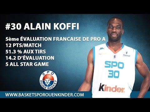 Alain Koffi (#30) - Highlights Pro A 2014/15 - SPO Rouen