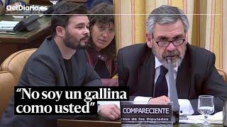 """""""No soy un gallina como usted"""": el enfrentamiento completo entre Rufián y Alfonso"""