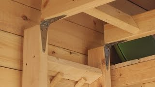 Unique And Simple Loft Ladder For A Tiny House