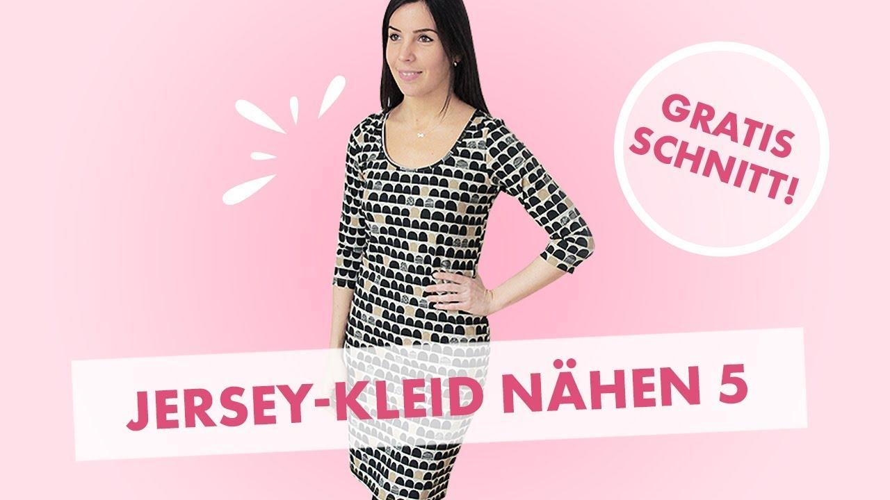 Kleid aus Jersey nähen (Teil 5)  Kleid richtig säumen mit Zickzackstich 1d9f0e20eb