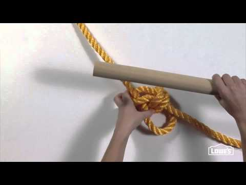 Knot Tying For Rope Tree Swing