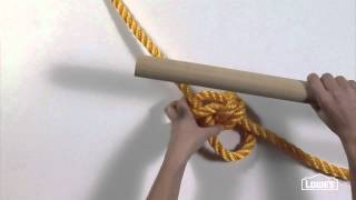 Knot Tying For A Rope Tree Swing