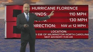 HURRICANE FLORENCE ' 8 a.m. Thursday Update
