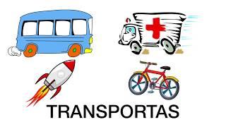 Transportas lietuviškai vaikams