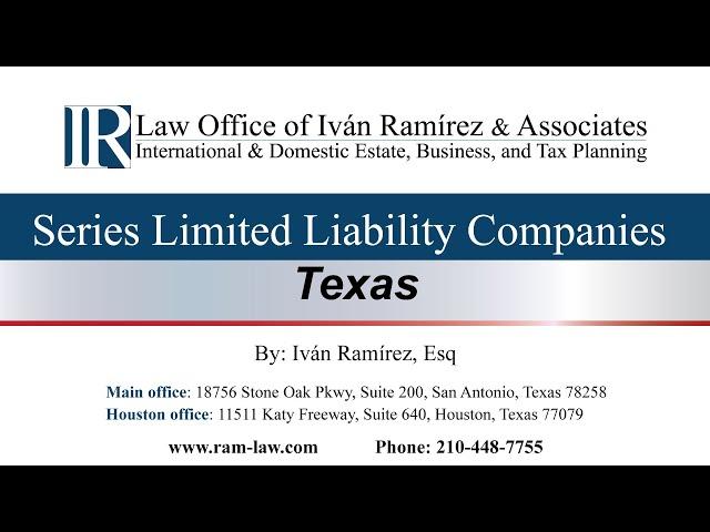 Series Limited Liability Companies - Texas