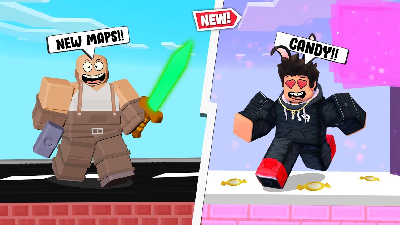INSANE* CANDY MAP!! in Roblox BedWars