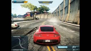 NFS MW 2012 Beating 10 Cars in a Single Race With ASTON MARTIN Car