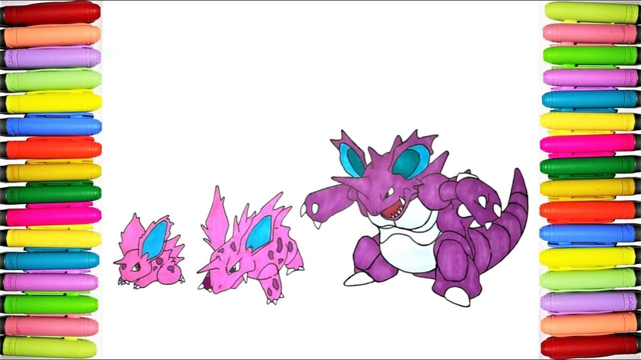 Pokemon coloring pages Nidoran