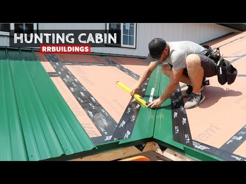 Building A Hunting Cabin 21: Metal Valley And Hip Details