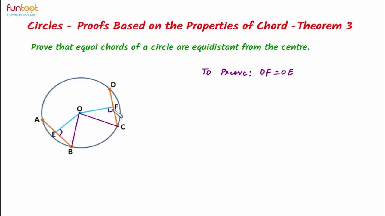 Properties of chords theorems on chords equal chords are properties of chords theorems on chords equal chords are equidistant from the centre of circle hexwebz Gallery