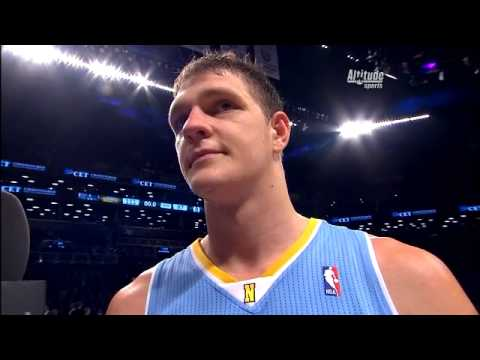 Nuggets C Timofey Mozgov Interview After Denver Nuggets Win vs Brooklyn Nets Dec 3, 2013
