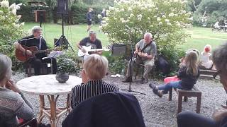 David de Haas met eigen band op camping Les Murets, augustus 2019