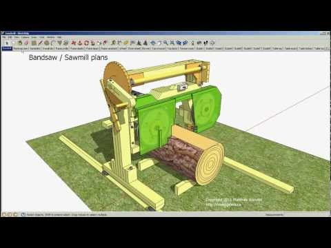 CIPTAREKAMESIN: Bandsaw / sawmill plans preview - 14