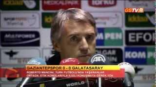 FUTBOL | Gaziantepspor Maç Sonu / Basın Toplantısı: Roberto Mancini