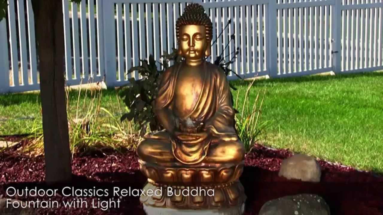 Outdoor Floor Fountain Buddha Garden Sculpture Statue | Landscape Garden  Water Feature   YouTube