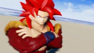 Gogeta SSJ4 Dragon Ball Unreal (PC) Gameplay - Fusion Dance