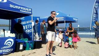Scott Eastwood, Surfrider Foundation and Nat Geo in Ocean Beach
