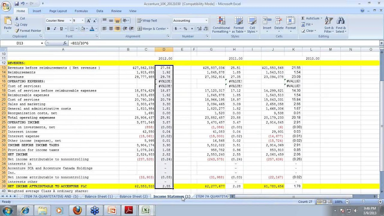 Valuation Template Excel