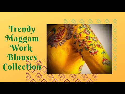 Latest Maggam Work Blouse Designs || Trendy Maggam Work Designs