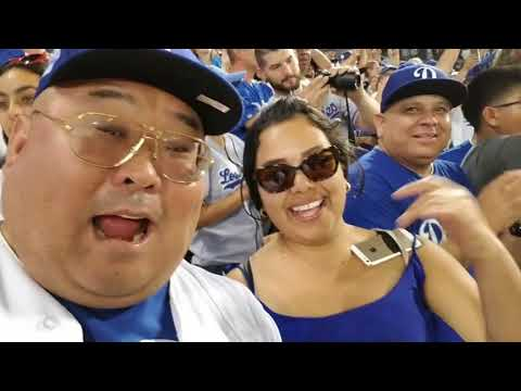 World Series Game 2:  Big Daddy Shin And Claricza Watching The Game Like Dodger Fans