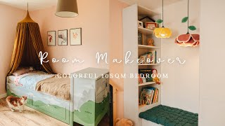 #23 DIY Kid Bedroom Makeover | Furniture Painting & Making | Flower Lamp Shade {SUB}