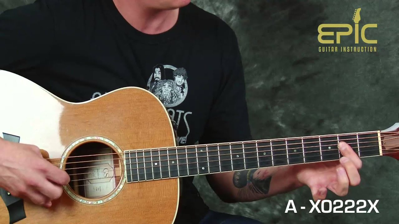 Learn guitar song lesson play Tesla Love Song on Taylor ...
