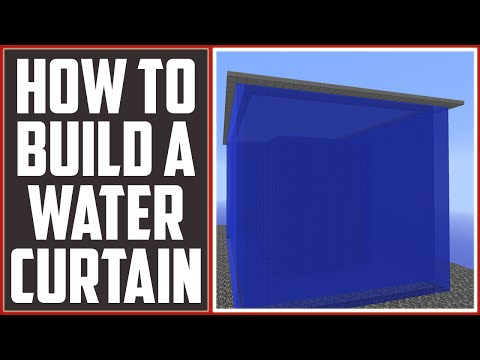 Minecraft Tutorial: Water Curtains [Anti-Cobble Monster] [Essential] [1.7/1.8/1.9]