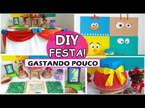 DIY Decoração de Festa de Aniversário - GALINHA PINTADINHA - Gastando Pouco