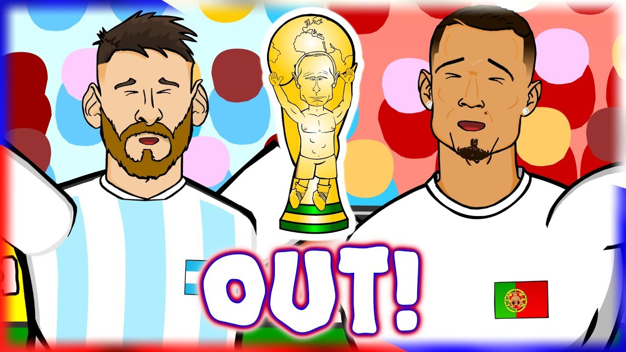 😭MESSI & RONALDO - OUT!😭 (World Cup Parody Song, France Argentina 4-3, Uruguay Portugal 2-1 Goals)
