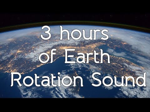🎧 Earth rotation sound in high quality white noise ASMR - Space sounds / Connect to the universe