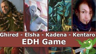Ghired vs Elsha vs Kadena vs Kentaro EDH / CMDR game play for Magic: The Gathering