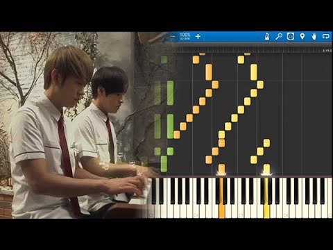 [Synthesia] Monstar 몬스타 - Canon In C 캐논 변주곡 (duet) 두 사람 Jazz