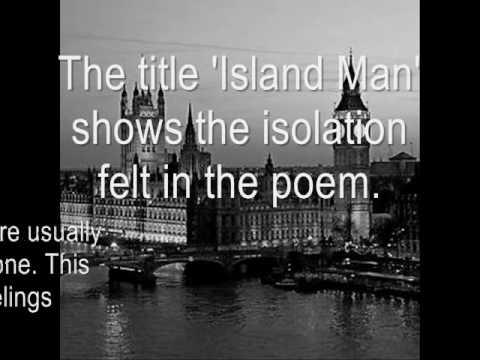 island man poetry analysis Island man - free download as powerpoint presentation (ppt), pdf file (pdf), text file (txt) or view presentation slides online.