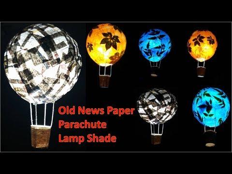 Art Attack | DIY-How to Make Old News Paper Parachute Balloon Lamp Shade.