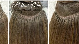 Nano Ring Hair Extensions ~ Before, During and After