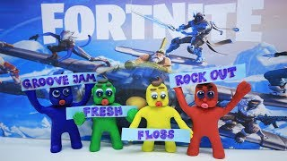 FORTNITE DANCE CHALLENGE - In- Color Superhero Babies Stop Motion Cartoons For Kids