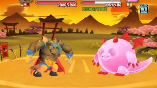 Dragon City: Japanese Island Dojo Battle 6 [Gummy Dragon] [The Shogun]