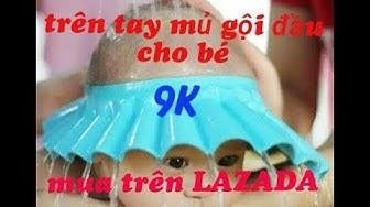 ĐH-  trên tay mũ gộl đầu chống nước vào mắt và tai cho bé 9K mua1ên Lazada