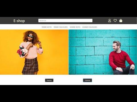 [ Freelance ] Créer Un Site E-commerce HTML , CSS , Bootstrap & Fontawesome. Partie#1