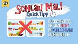 8 Lebensmittel die man nicht im Kühlschrank lagern sollte - Lebensmittel richtig lagern Schlaumal