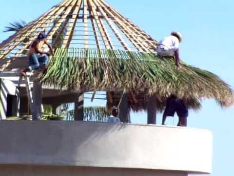 Building A The Palapa On The New House Across The Street
