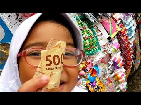 Shafeea Hanum Ada Sisa Uang Saku 5 Ribu Dibeliin Mainan Murah, Dapat 3 Mainan! 😱 Abang Mainan Murah