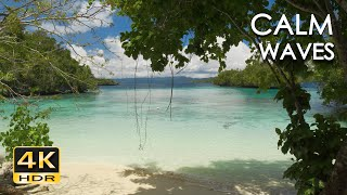 4K HDR Calm Waves - 10 Hours - Relaxing Ocean Wave Sounds - Tropical Beach Nature Video for Sleeping
