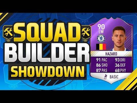 FIFA 17 SQUAD BUILDER SHOWDOWN!!! PLAYER OF THE MONTH HAZARD!!! Purple Hazard Squad Duel