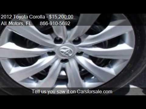 2012 Toyota Corolla Unspecified For Sale In Homestead Fl