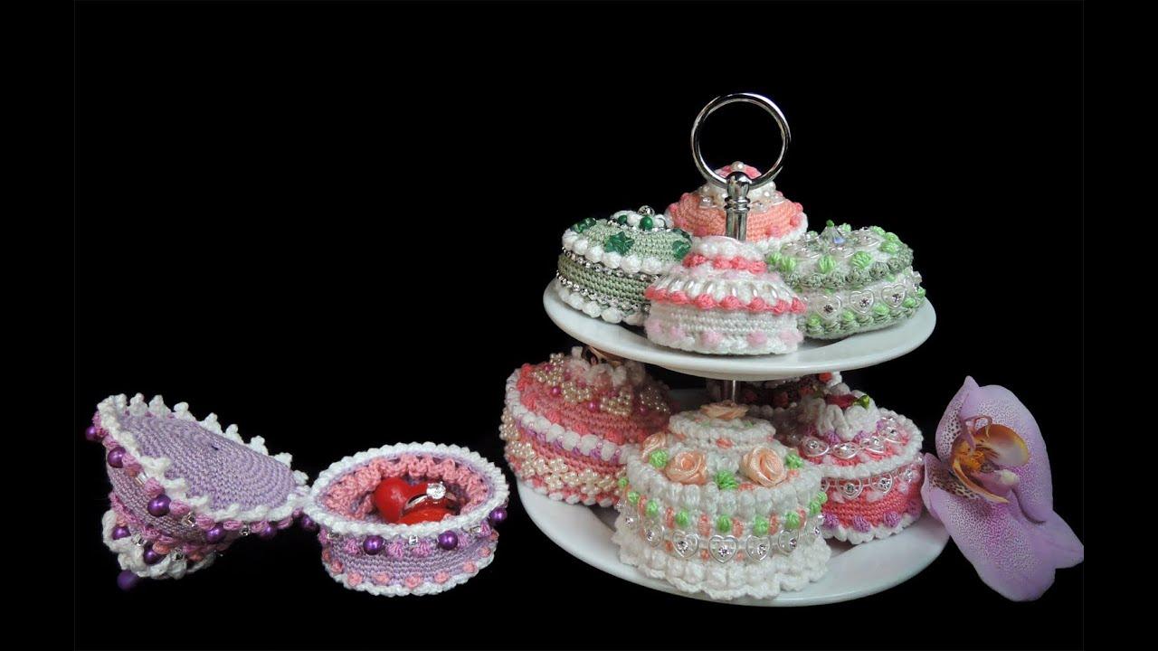 Schmuckkästchen Törtchen Cupcakes Alles Gehäkelt Häkeln Crochet