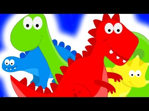 Dinosaurs Teaching Colors Learning Colours Video For