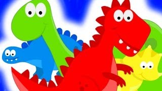 Dinosaurs Teaching Colors - Learning Colours Video for Kids