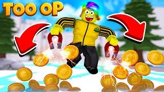 I Got The STRONGEST HATS and became TOO OP! (Roblox Magnet Simulator)