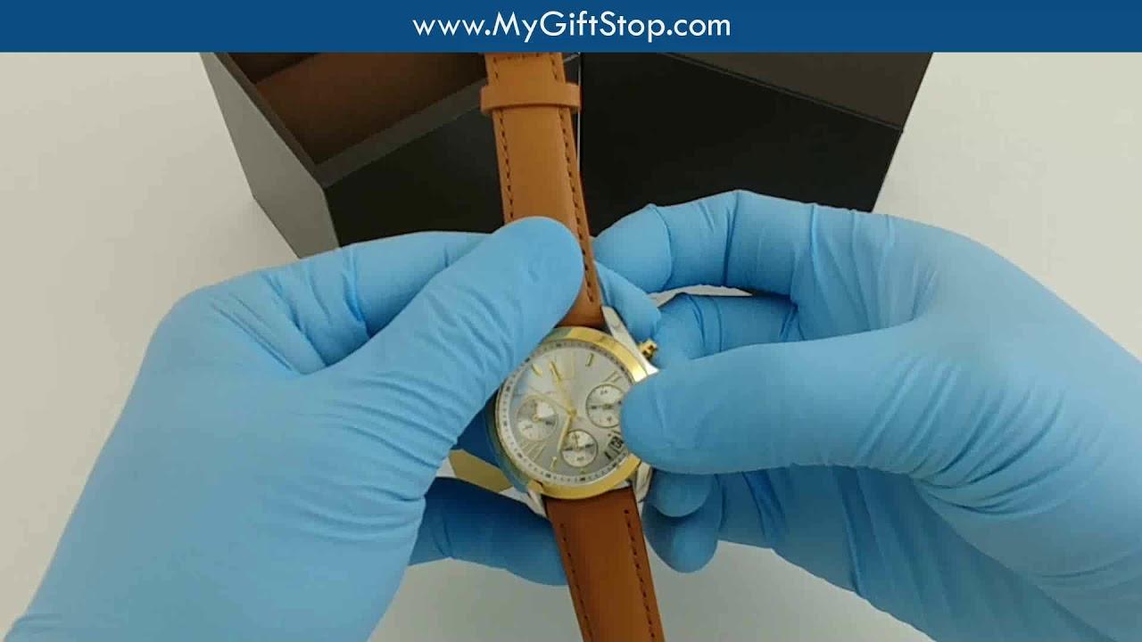 909e1cfd0529 Michael Kors MK2301 Bradshaw Mini Women s Brown Strap Chrono Watch Video